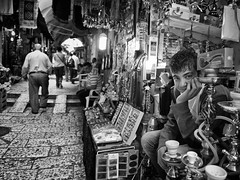 Jerusalem Street Hawkers (newzild) Tags: street travel boy bw white black smile silver four photography alley jerusalem olympus m ii alleyway micro pro 12mm zuiko hawker thirds ep3 1220 f20 m43 efex