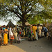 South Sudan asylum seekers and members of the host community wait in line for vaccination in the border town of Tergol, Akobo Woreda, Gambella Region (Ethiopia)