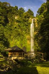 Small paradise (Dhiya A.M) Tags: green nature indonesia photography eos daylight waterfall paradise photographer cloudy kitlens bluesky bandung westjava indah cimahi extremebokeh 1855mmlens jawabarat curugcimahi bandungbarat eos1100d dhiyaphotography