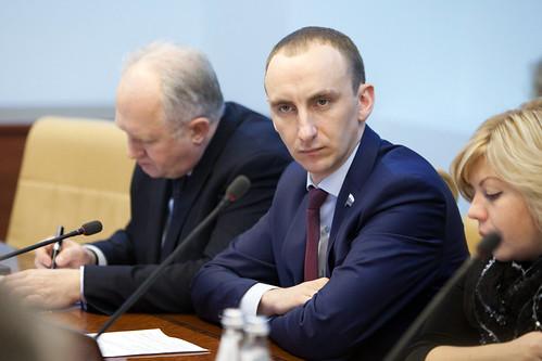 Заседание Комитета СФ по социальной политике с участием министра труда Максима Топилина