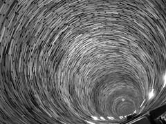 vertigo (tamasmatusik) Tags: bw vortex monochrome spiral mirror czech prague library vertigo prag books prga g9 knyv rvny