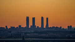 Madrid Cuatro Torres Business Area (CTBA) at sunset (macgyver912) Tags: madrid sunset españa landscape four cuatro 4 towers terminal business area goldenhour 4s satelite torres comunidaddemadrid chamartin cbta