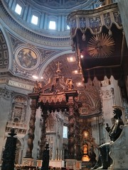 Inside St Peter's Basilica (deadmanjones) Tags: italy vatican rome roma statue bronze foot italia interior worn rub stpeter stpetersbasilica arnolfodicambio flickrandroidapp:filter=none