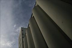 Minas Mordor (liebeslakritze) Tags: blue sky concrete himmel silo blau beton minasmordor