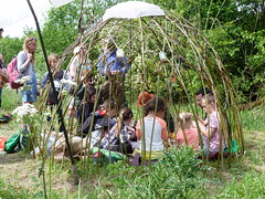 Woven willow dome
