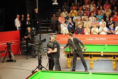 The Captain - Ali Carter! (zawtowers) Tags: world man sport 50mm championship theatre sheffield front rob ali mc tournament walker round second april match handshake carter thursday snooker fifty presenter crucible 2014 thehomeofsnooker afsnikkor50mmf18g dafabet