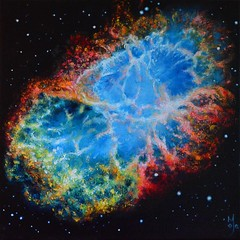 Crab Nebula (majaopacic) Tags: painting stars space crab nebula supernova universe hubble