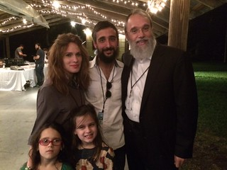 Alisa and Rabbi Getzy Fellig, uncle Zalman Fellig and daughters Nossia and Taha during the Chabad Coconut Grove concert held at the Barnacle state park