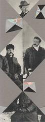leo & pipo triangle portrait (kurberry) Tags: collage cutpaste vintagecollage vintageephemera leopipo blackwhitecollage