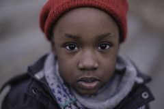 street little boy (So Aitarg.) Tags: street boy black saint childhood canon vintage rouge eos hope town eyes day child place belgium little portait 14 format mm lambert 50 bonnet paysage liege ville 6d filtre flitre