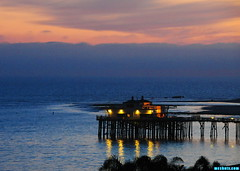 Malibu4610 (mcshots) Tags: ocean california travel winter sunset sea sky usa water clouds reflections lights evening coast pier view dusk stock malibu socal mcshots swells losangelescounty