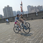"Cycling on Xi'an city wall<a href=""http://www.flickr.com/photos/28211982@N07/16501645451/"" target=""_blank"">View on Flickr</a>"