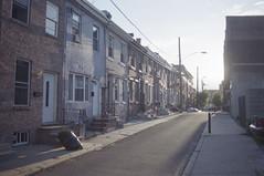 Diary // Philadelphia (JeffWellerPhotography) Tags: street houses light shadow sun reflection brick film philadelphia home lines 35mm photography power kodak south row 400 block philly stoop portra kod jeffweller