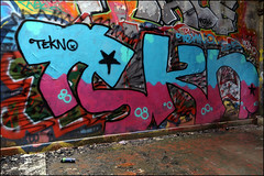 Tekno (Alex Ellison) Tags: urban abandoned graffiti factory boobs warehouse graff derelict tekno printers urbex northlondon tekn