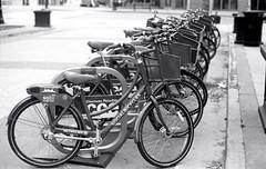 Rent a Bike (Bill Smith1) Tags: hc110b olympusom4 hamiltonon berggerbrf400 zuiko50f14lens filmshooterscollective spring2016 heyfsc billsmithsphotography
