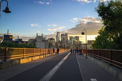 Stone arch bridge, Minneapolis MN #bridge #sunset #city #twincities #mississippi #minneapolis #minnesota #iphone6 #spring #lightroommobile (namouze) Tags: city bridge sunset minnesota mississippi spring minneapolis twincities iphone6 lightroommobile