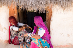 plz suggest title (durgeshnandini) Tags: india outside women dress traditional hut jodhpur rajasthani