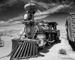 A long journey through time (claudiov958) Tags: railroad arizona blackandwhite bw southwest blancoynegro tucson ngc locomotive pretoebranco biancoenero steamlocomotive schwarzweis photoka nikkor240700mmf28 nikond800e claudiovaldes