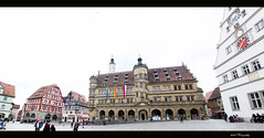 Town Hall of Rothenburg (Jikesh k) Tags: panorama canon germany town hall rathaus rothenburg rothenburgobdertauber 60d