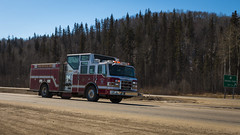 Fort McMurray Fire Department (DustinGinetz.Photography) Tags: fire rescue emergency firetruck engine fortmcmurray internationalfirefightersday may 4th wildfire alberta firemen volunteer red lights dustinginetzphotography