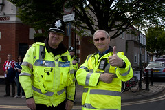 Even the police support Watford FC Yellow Army! (Don McDougall) Tags: sport football soccer police thumbsup hornets hertfordshire watford wfc sunderland policemen herts vicarageroad watfordfc orns donmcdougall hertfordshirepolice watfordfcvsunderland watfordvsunderland
