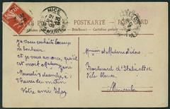 Archiv E648 Weihnachtskarte, Frankreich, Nizza vom 24. Dezember 1908 (Hans-Michael Tappen) Tags: france nice frankreich stamps postcard text ephemera schrift weihnachtskarte nizza postkarte briefmarke poststempel archivhansmichaeltappen