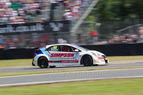 Matt Simpson during the BTCC weekend at Oulton Park, June 2016