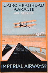 Imperial Airways, playing card, back, detail (afvintage) Tags: tajmahal nile pyramids himalaya nil giza playingcard gizeh airservice imperialairways carteajouer bagdadcairokarachi