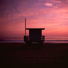 ave 26. venice beach, ca. 2016. (eyetwist) Tags: ocean california pink venice sunset sky orange seascape 120 6x6 mamiya film beach water silhouette clouds analog mediumformat square 50mm la losangeles los saturated sand fuji pacific angeles dusk magenta slide lifeguard ishootfilm velvia pacificocean socal chrome transparency venicebeach 100 analogue mamiya6 e6 baywatch emulsion rvp fujivelvia100 primes angeleno oceanfrontwalk lenstagger eyetwist 6mf mamiya6mf worldoceansday 26thavenue ave26 epsonv750pro mamiya75mmf35 recentlyprocessedfilm filmexif eyetwistkevinballuff iconla