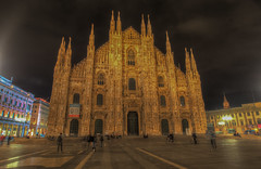 Milan Cathedral (Wizard CG) Tags: italy milan building skyline architecture long exposure catholic cathedral roman outdoor milano gothic engineering wideangle structure nightshots duomo neogothic hdr neoclassical photomatix 1386 tonemapping tonemap epl7