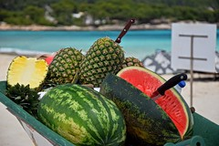 Fruits at the beach (Kai Beinert) Tags: fruits beach landscape strand frchte obst summer sommer mallorca balearen landschaft melone