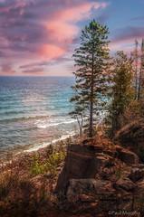 Cabot Head Vista (murf50) Tags: trees sunset lake seascape ontario nature water beautiful landscape georgianbay shoreline greatlakes owensound paulmurphy rockformations otherkeywords