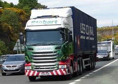 H2070 - PE64 EUR (Cammies Transport Photography) Tags: road eve bridge truck lorry forth eddie eur kasey scania esl a90 stobart eddiestobart r450 ferrytoll h2070 pe64 pe64eur