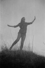 *FILM* Julia (Philip Schulze) Tags: portrait woman classic film girl look analog mediumformat blackwhite dirty retro 6x9 agfa rodinal expired clack panf50plus