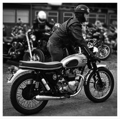 Thunderbirds are  urmmm,  Go ! (The Landscape Motorcyclist) Tags: triumph thunderbird bonnie bonneville nikon df acecafe bw mono rockers puddingbasin leather caferacer clipon strapon snapon