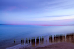 Beach blur (catkin314) Tags: sea sky water evening hampshire multipleexposure solent southcoast icm groynes lepe lepebeach lepecountrypark