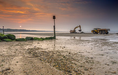 Extreme Sandcastling (nicklucas2) Tags: sea seascape beach sunrise seaside sand lowtide groyne