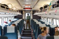 going home (zac evans photography) Tags: city nyc urban newyork brooklyn train island metro corridor rail queens amtrak keystone manhatten staten conductor zacevansphoto