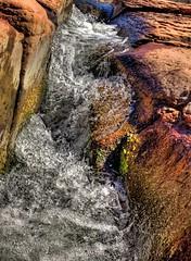 Flowing Water (KnightedAirs) Tags: red arizona water rock digital canon photography photo stream sedona powershot hdr s100