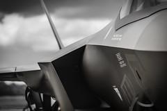 F-35 Lightning II (cerealbawx) Tags: belgium belgique belgie belgian airforce days 2016 baf2016 combat flight planes airplane plane airplanes f35 jsf joint strike fighter close up bokeh shallow dof bw black white