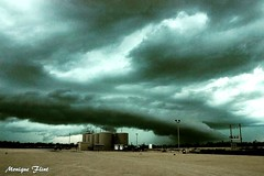 Storm moving in. (moniquef123) Tags: sky storm nature weather clouds dark landscape texas ominous weatherphotography therebeastormabrewin