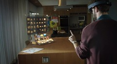 "Windows Holographic แว่นไฮเทค ที่จะเชื่อมคุณ เข้าไปสู่มิติแห่งโลกอนาคตได้      ไมโครซอฟท์กล่าวว่า "" HoloLens นั้นคล้ายกับ Surface อย่างหนึ่ง เพราะนั้นคือเทคโนโลยีซอฟต์แวร์เพื่อใช้ในการผลักดันขีดจำกัดของฮาร์ดแวร์ และยินดีเปิดกว้างให้พาร์ทเนอร์รายอื่นๆ สามา"