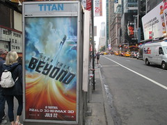 Star Trek Beyond Poster Billboard Phone Booth AD 2016 NYC 1897 (Brechtbug) Tags: show street new york city nyc fiction film television st trek booth movie poster star tv jj theater phone mr theatre near manhattan district space rip ad broadway science billboard midtown sidewalk ave captain spock scifi series beyond anton 1960s avenue abrams 7th futuristic kirk 42nd 2016 standee standees yelchin 06282016