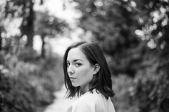 (Esther'90) Tags: portrait blackandwhite bw woman nature face fashion garden botanical lights spring natural bokeh fashionphotography may naturallight portraiture botanicalgarden 2016 bwportrait portraitphotography faceportrait fashionportrait blackandwhiteportrait womanportrait portraitwoman