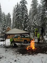 Winn Pole Mount Construction - 2 (PowerHouse Solar) Tags: snow truck solar construction ground phs pv powerhouse winn