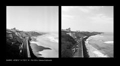 Biarritz 1961-2016 - Salesse-Gabbardo (Archives photographiques du MRU) Tags: blackandwhite monochrome noiretblanc paysage sentier biarritz 1961 aquitaine littoral pyrénéesatlantiques reconduction henrisalesse traitdecôte denisgabbardo