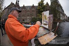 Bruges (Stefan Lambauer) Tags: old city bridge cidade art landscape canal europa paint arte belgium brugge paisagem ponte painter be pont bruges pintor kanalen bélgica 2015 stefanlambauer rickdickinson dickinsonartcom
