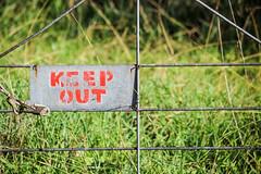 Hamilton LC-0009 (melodi2) Tags: sign metal rural words gate farm rules farmland forbidden weathered paddock restriction