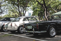 Alfa Romeo Giuletta Sprint and Triumph TR4 (Justin Young Photography) Tags: cars philippines triumph manila sprint alfaromeo tr4 giuletta mscc manilasportscarclub