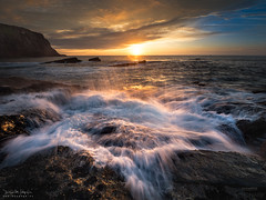 Water Star (diegogm.es) Tags: light sunset sea espaa get luz atardecer mar spain agua tripod asturias gozon olympus filters aire libre ocano cantabrico em5 benro esolympus em5mkii